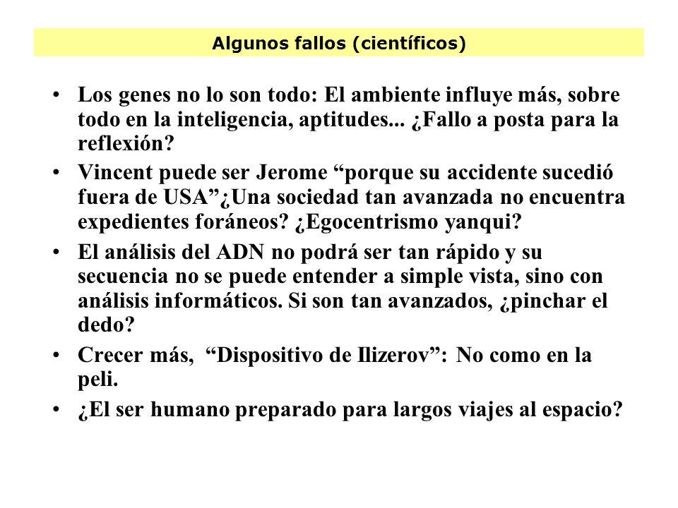 Algunos fallos (científicos)