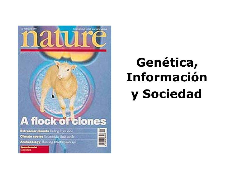 Genética, Información y Sociedad
