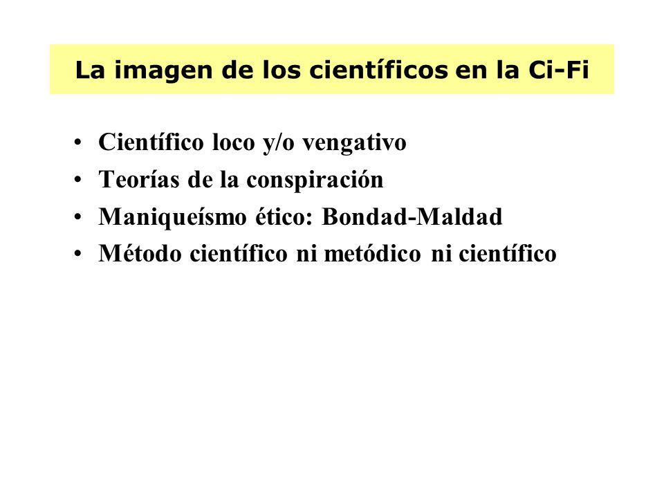 La imagen de los científicos en la Ci-Fi