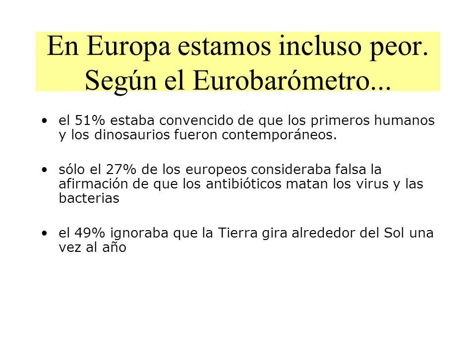 En Europa estamos incluso peor. Según el Eurobarómetro...