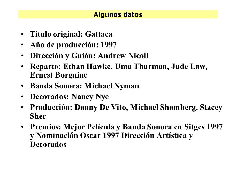 Título original: Gattaca Año de producción: 1997