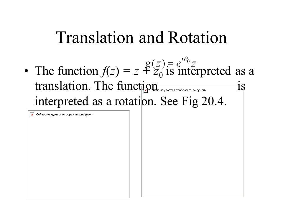 Translation and Rotation