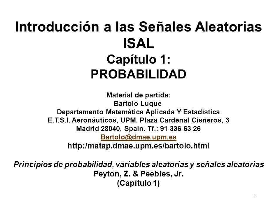 Introducción a las Señales Aleatorias ISAL