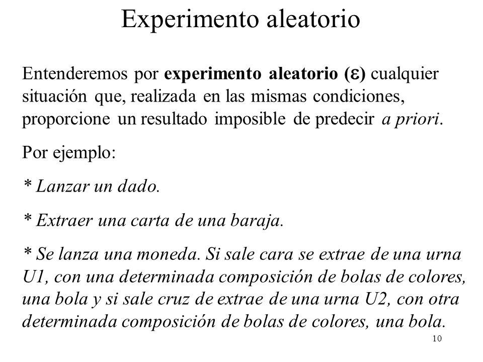 Experimento aleatorio