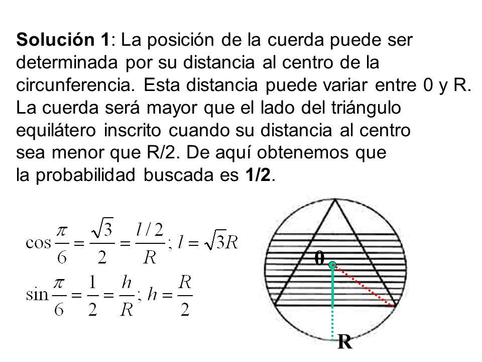 R Solución 1: La posición de la cuerda puede ser