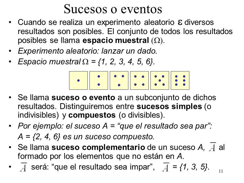 Sucesos o eventos