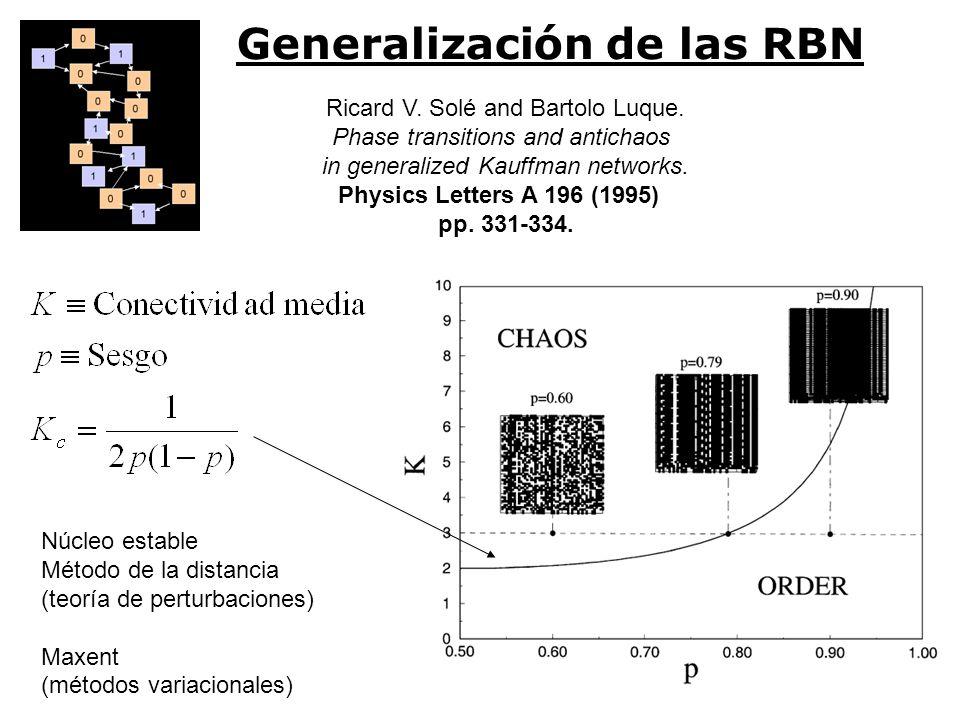 Generalización de las RBN