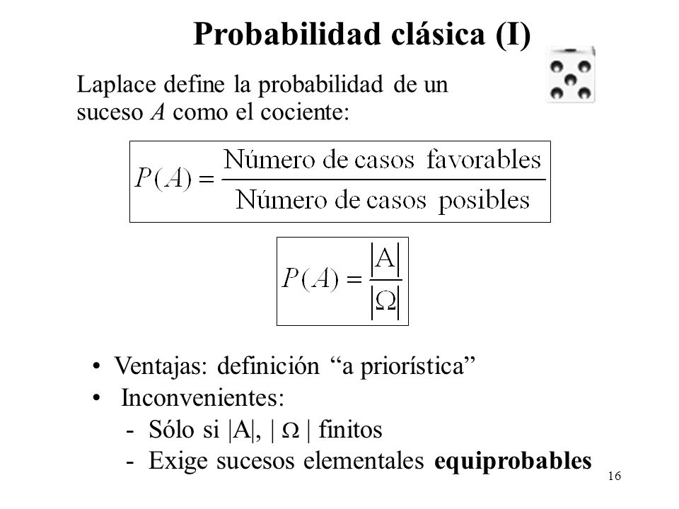 Probabilidad clásica (I)