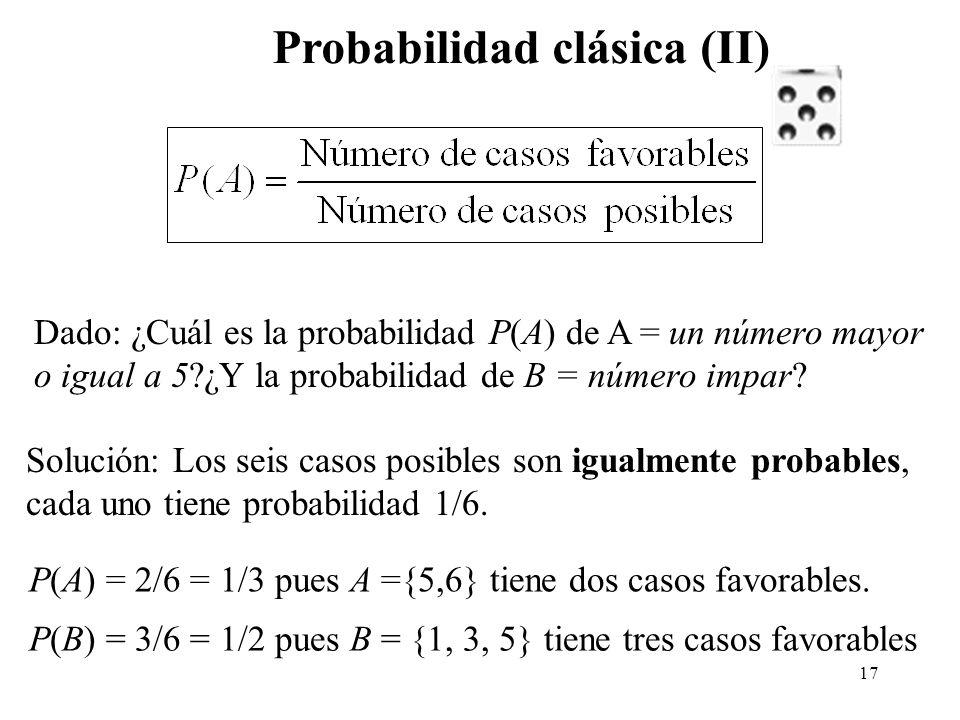 Probabilidad clásica (II)