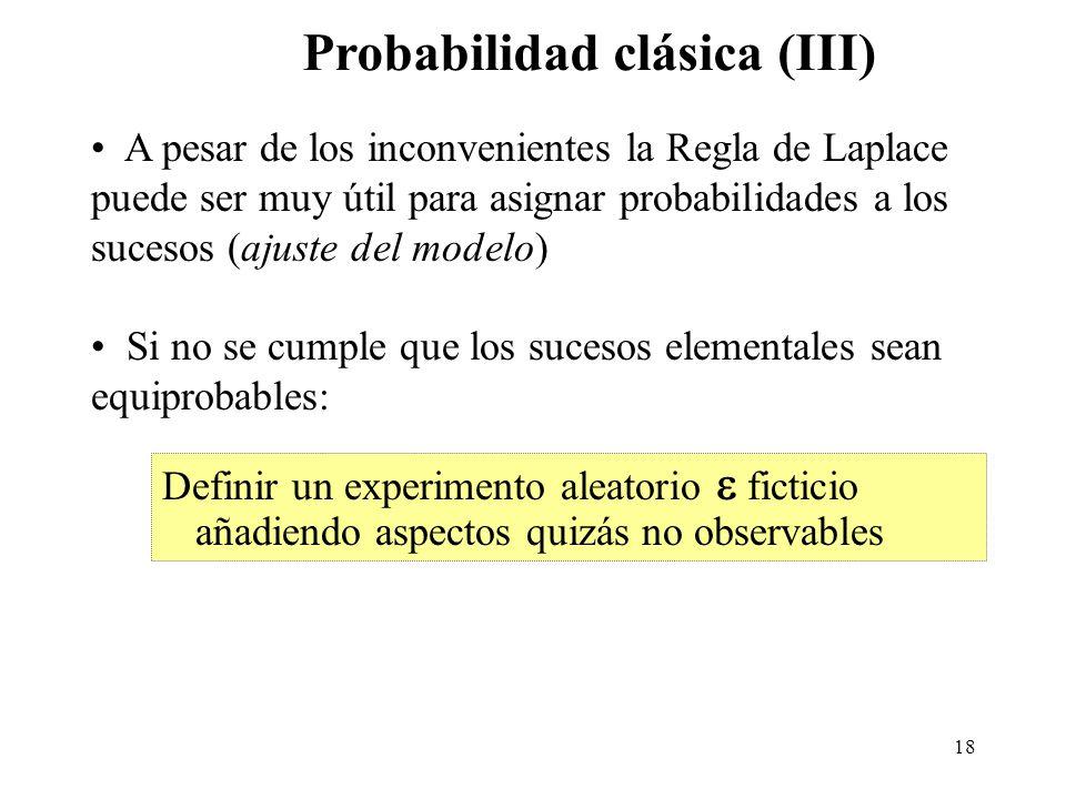Probabilidad clásica (III)