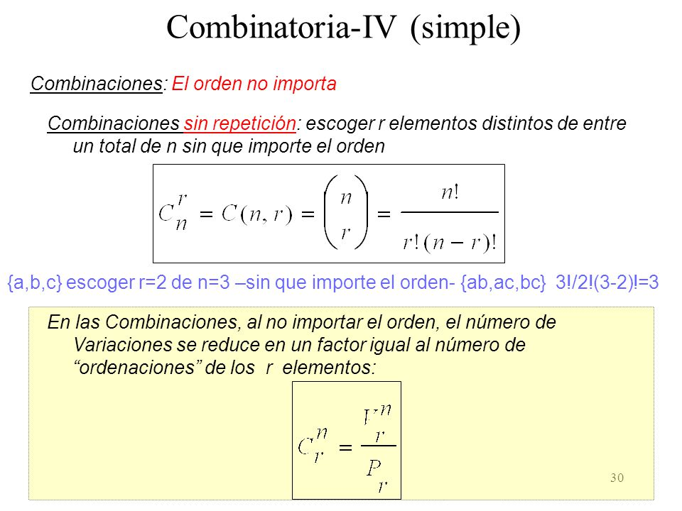Combinatoria-IV (simple)