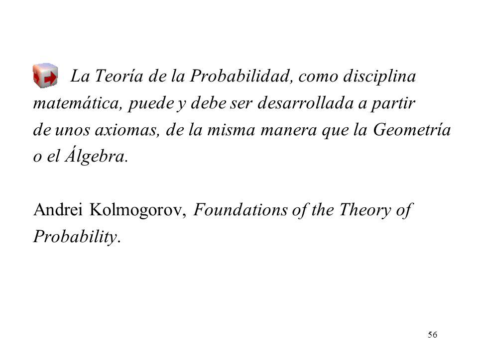La Teoría de la Probabilidad, como disciplina