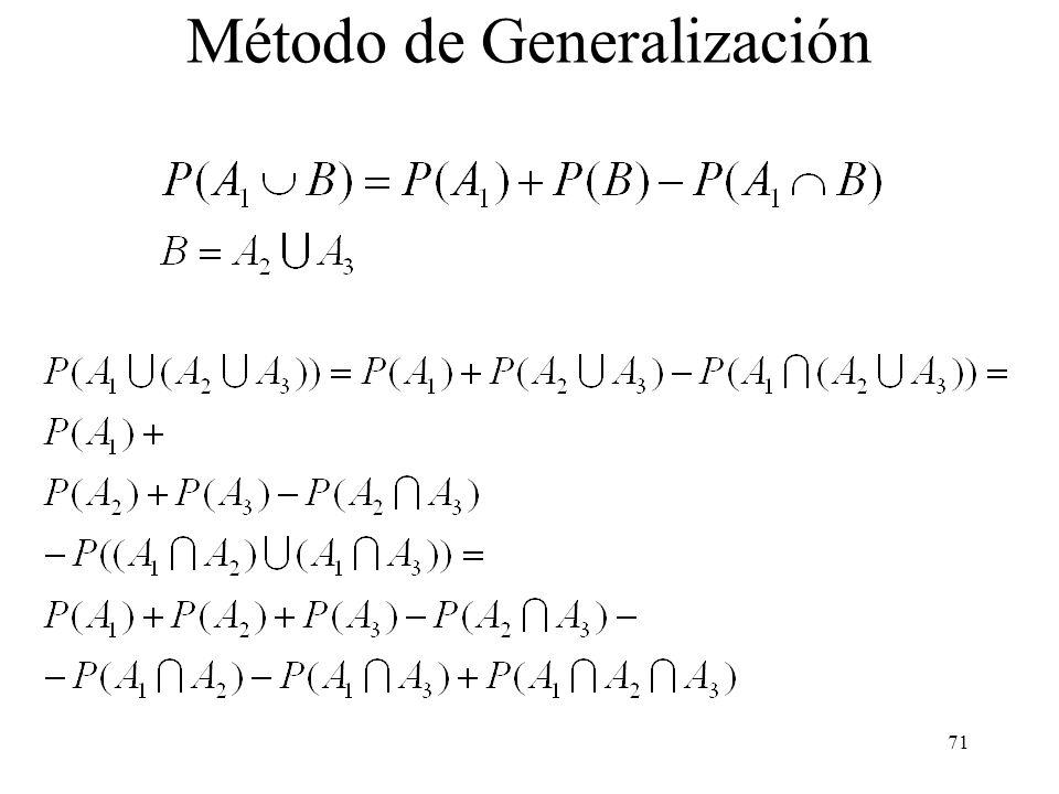Método de Generalización