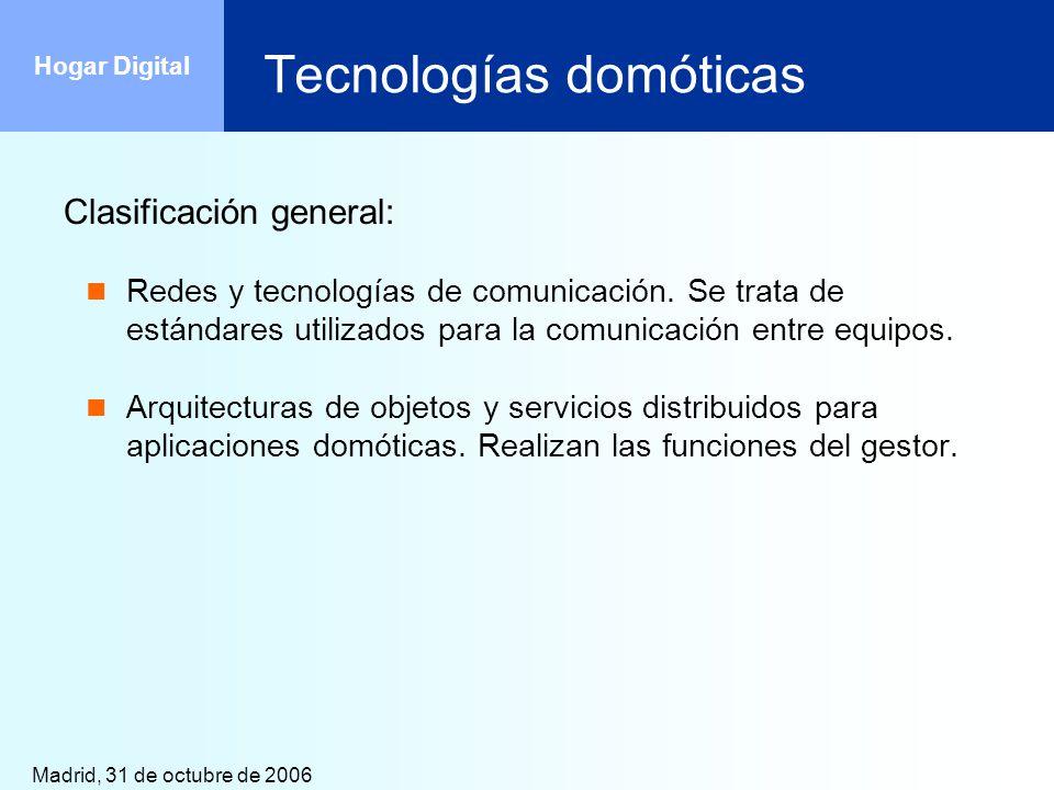 Tecnologías domóticas