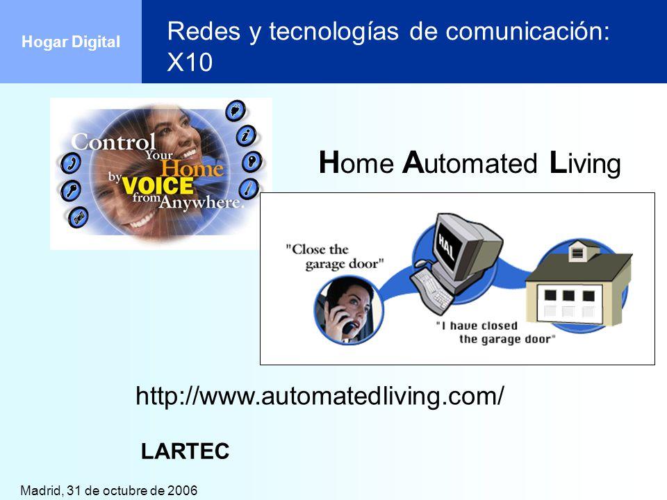 Redes y tecnologías de comunicación: X10