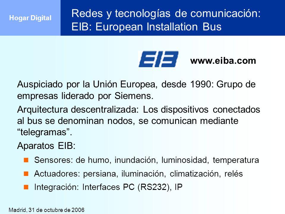 Redes y tecnologías de comunicación: EIB: European Installation Bus