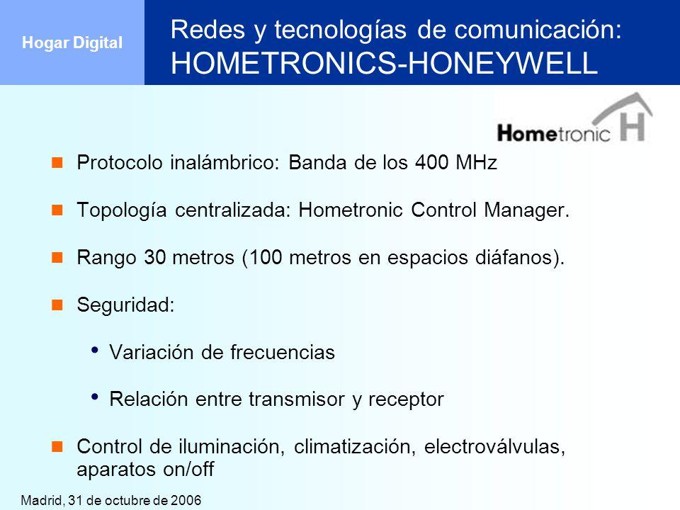 Redes y tecnologías de comunicación: HOMETRONICS-HONEYWELL