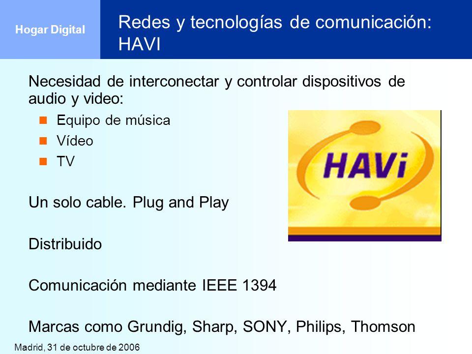 Redes y tecnologías de comunicación: HAVI