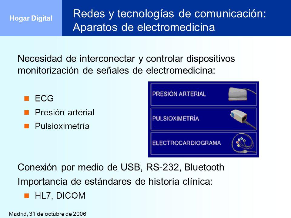 Redes y tecnologías de comunicación: Aparatos de electromedicina