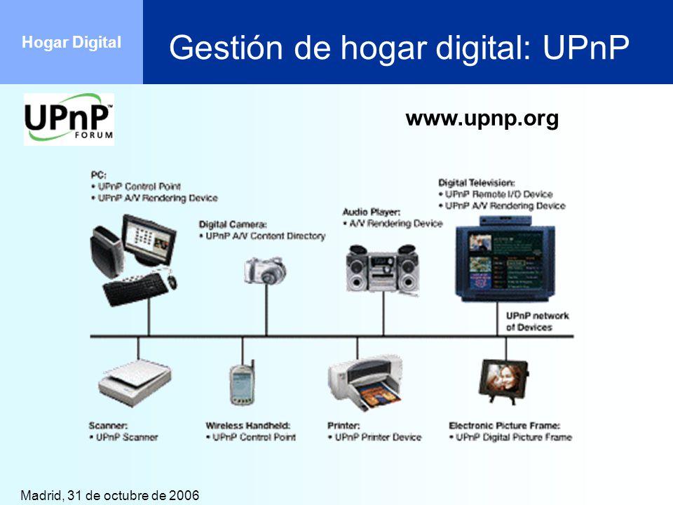 Gestión de hogar digital: UPnP