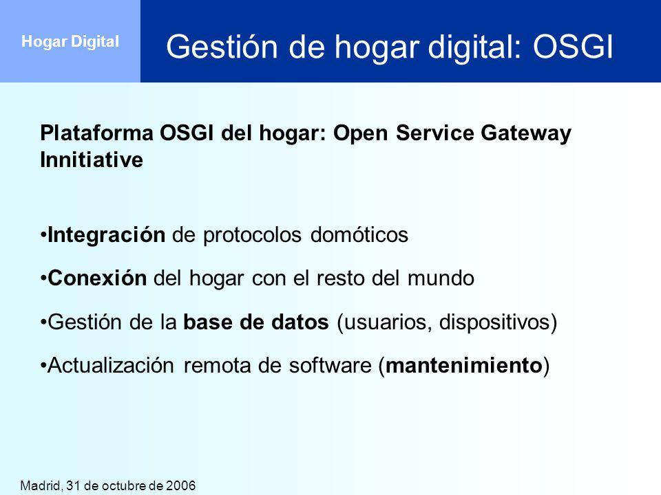Gestión de hogar digital: OSGI