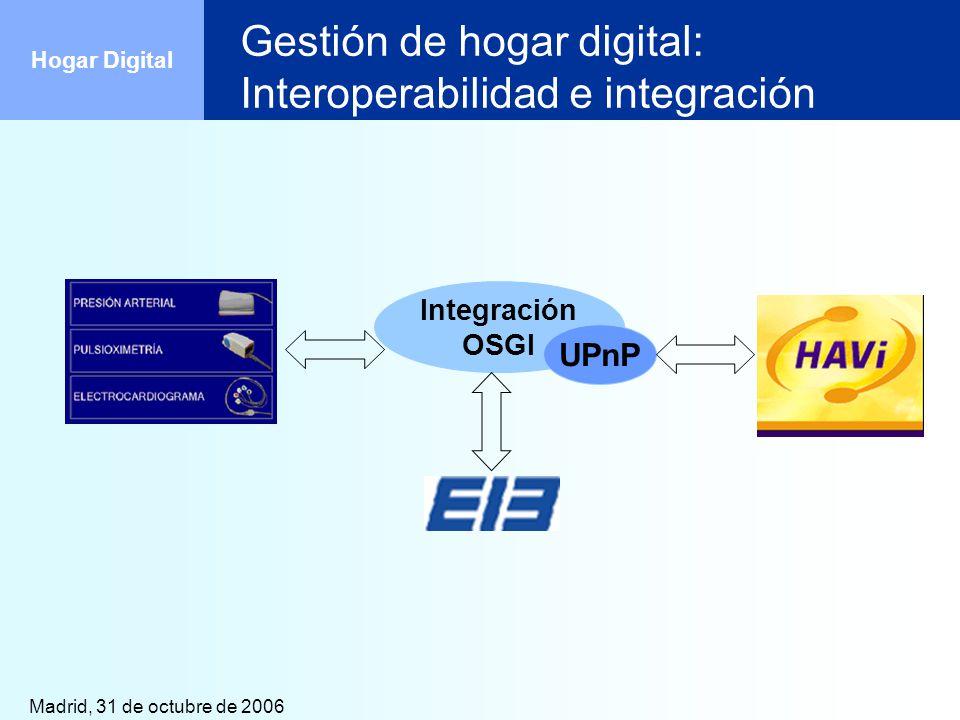 Gestión de hogar digital: Interoperabilidad e integración
