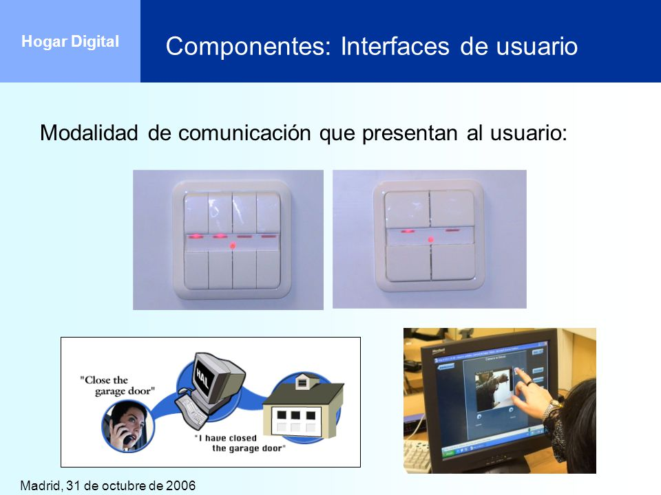 Componentes: Interfaces de usuario