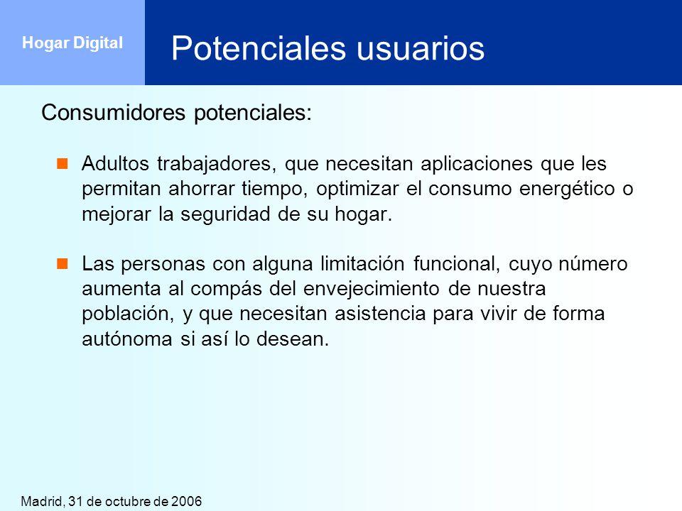 Potenciales usuarios Consumidores potenciales: