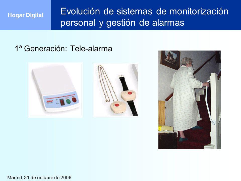 Evolución de sistemas de monitorización personal y gestión de alarmas
