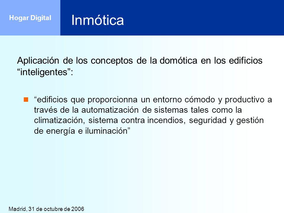 Inmótica Aplicación de los conceptos de la domótica en los edificios inteligentes :