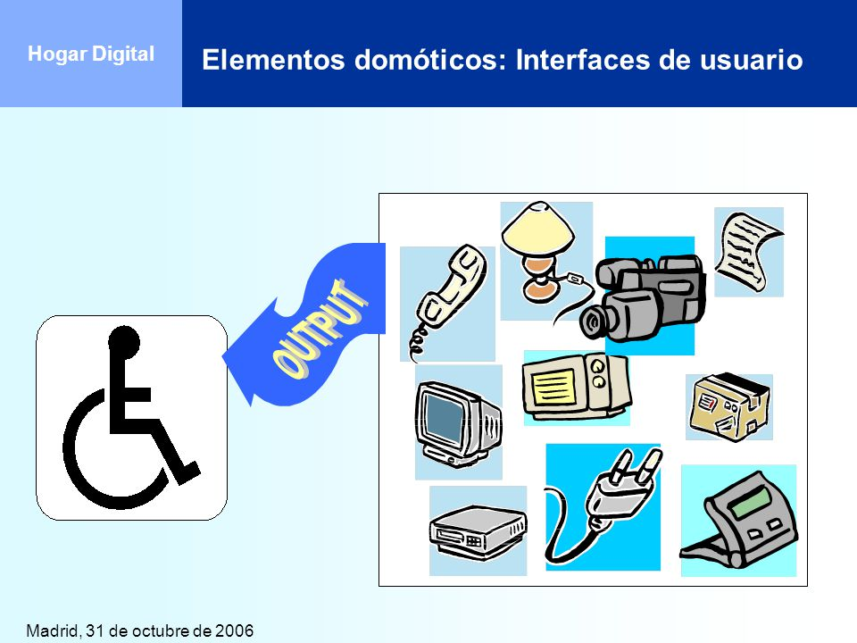 Elementos domóticos: Interfaces de usuario