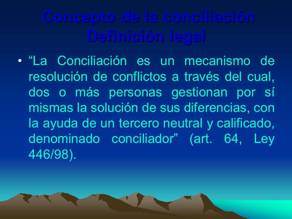 Concepto de la conciliación Definición legal