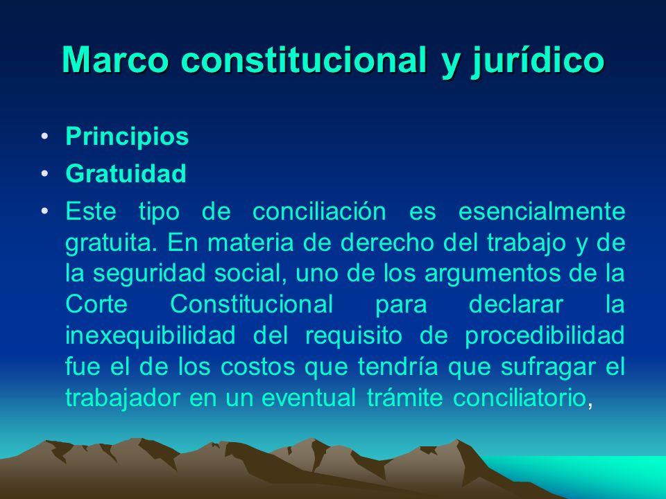Marco constitucional y jurídico