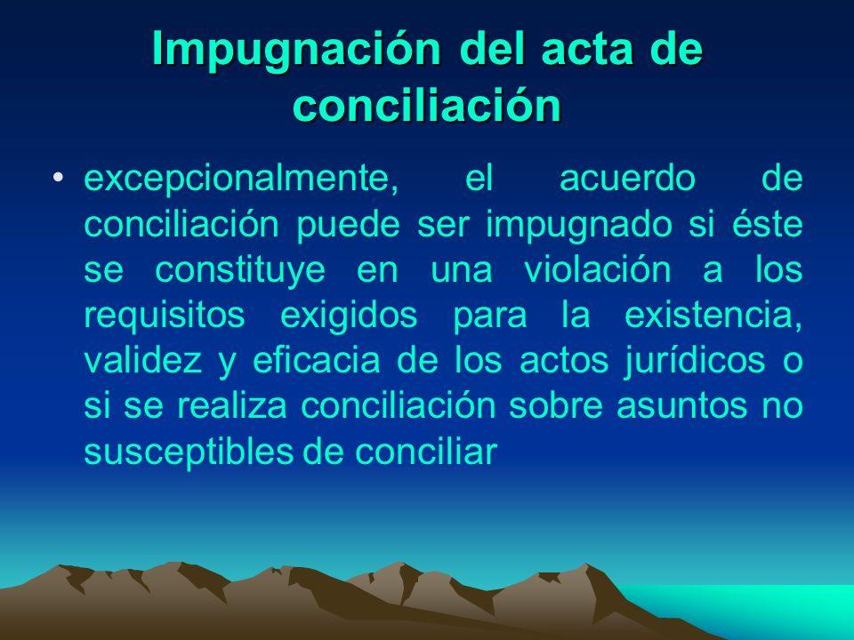 Impugnación del acta de conciliación