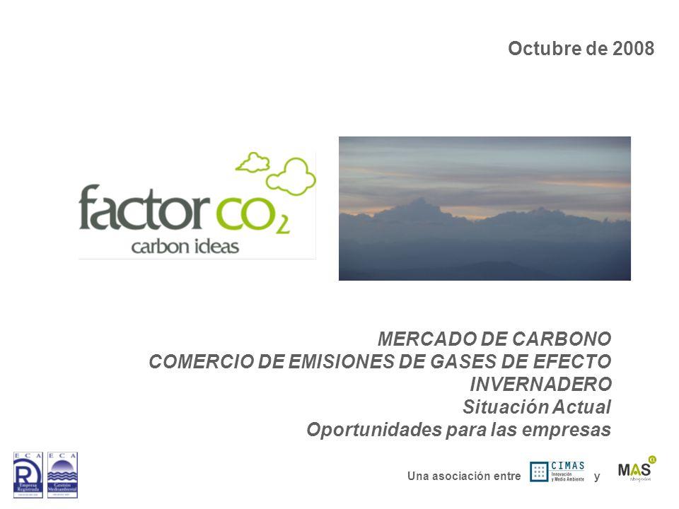 COMERCIO DE EMISIONES DE GASES DE EFECTO INVERNADERO Situación Actual