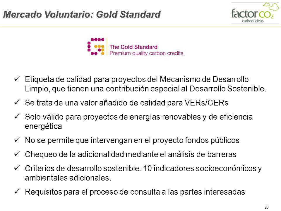 Mercado Voluntario: Gold Standard