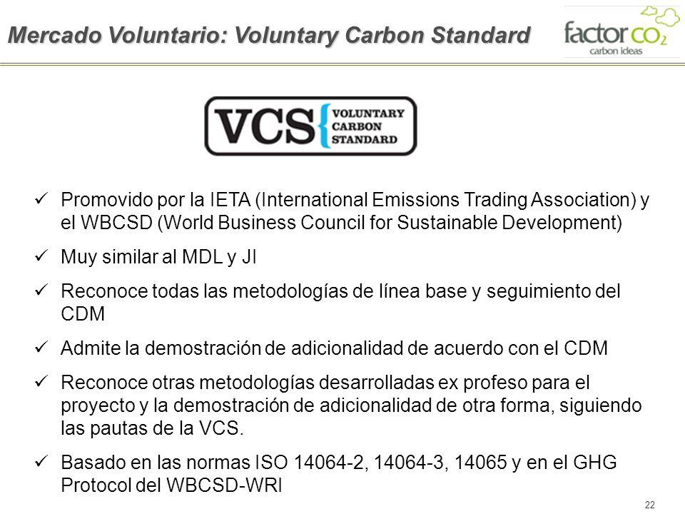Mercado Voluntario: Voluntary Carbon Standard