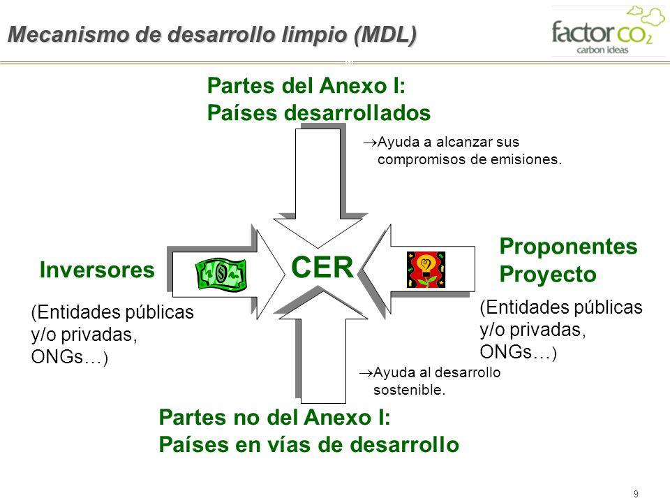 CER Proponentes Proyecto Inversores