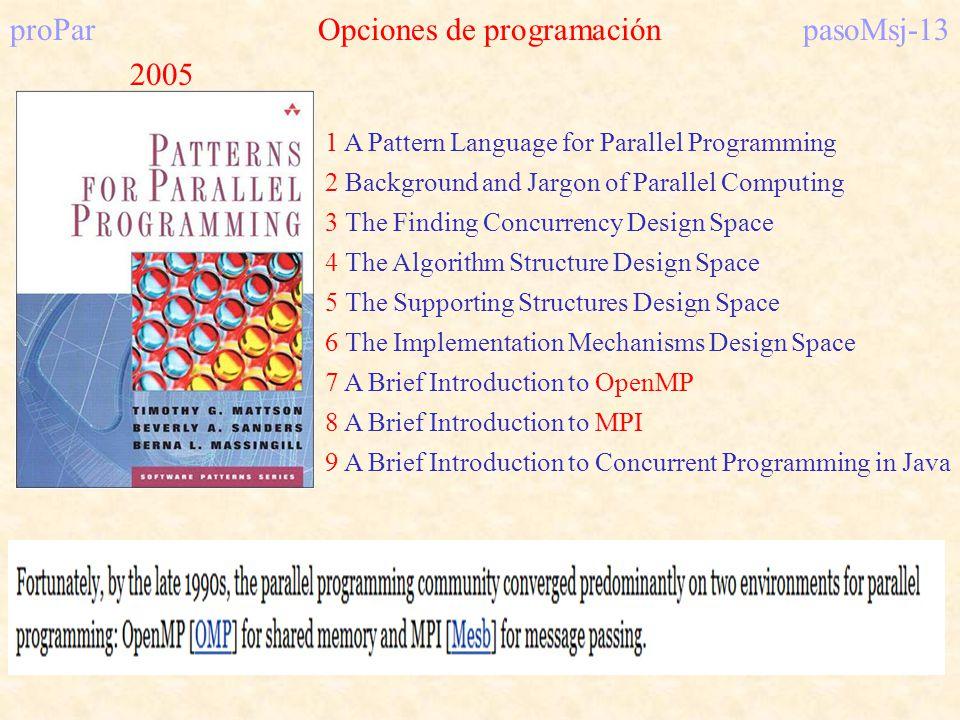 proPar Opciones de programación pasoMsj-13