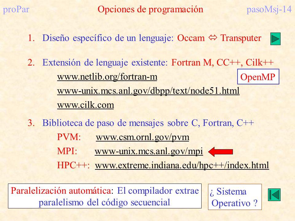proPar Opciones de programación pasoMsj-14