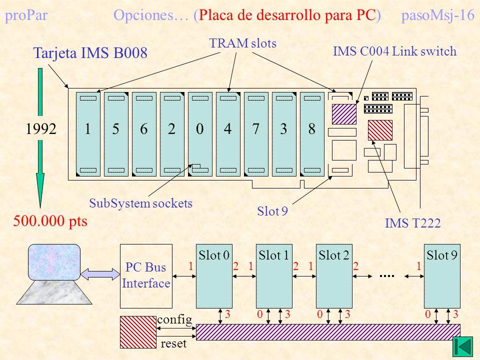 proPar Opciones… (Placa de desarrollo para PC) pasoMsj-16