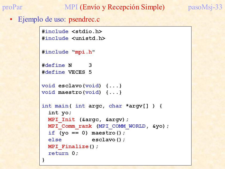 proPar MPI (Envío y Recepción Simple) pasoMsj-33