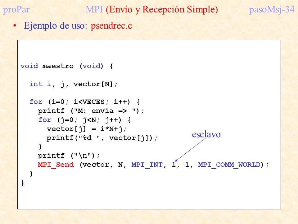proPar MPI (Envío y Recepción Simple) pasoMsj-34