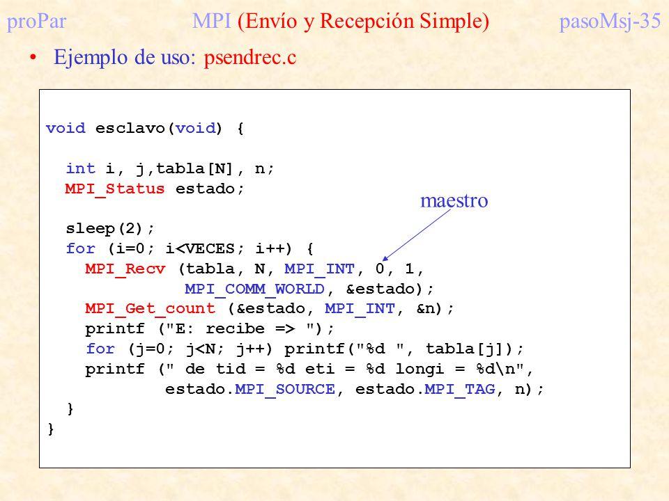 proPar MPI (Envío y Recepción Simple) pasoMsj-35