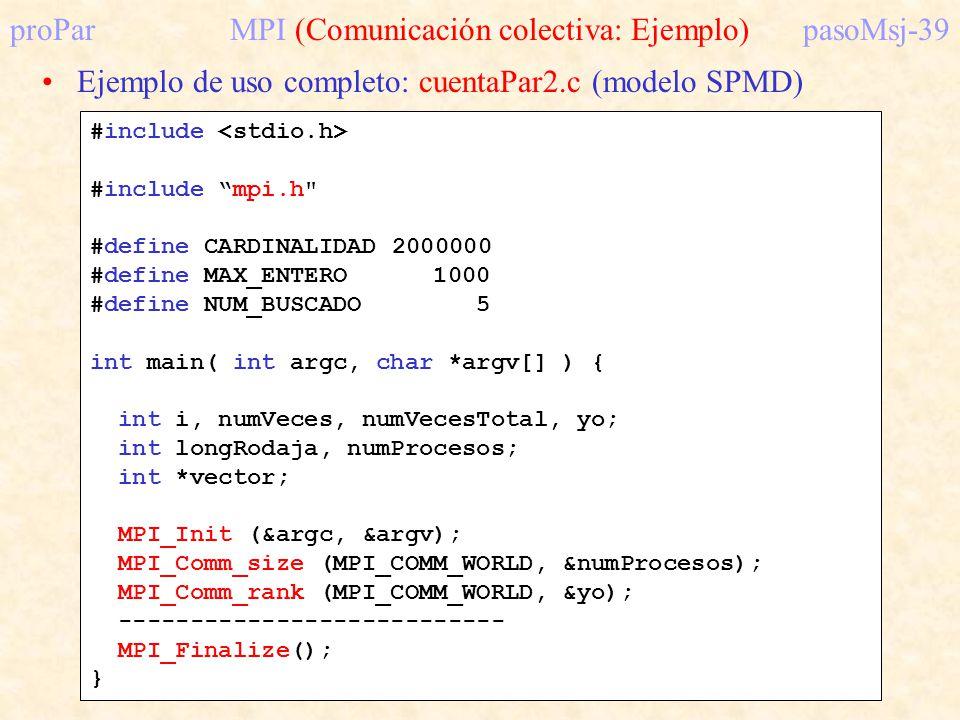 proPar MPI (Comunicación colectiva: Ejemplo) pasoMsj-39
