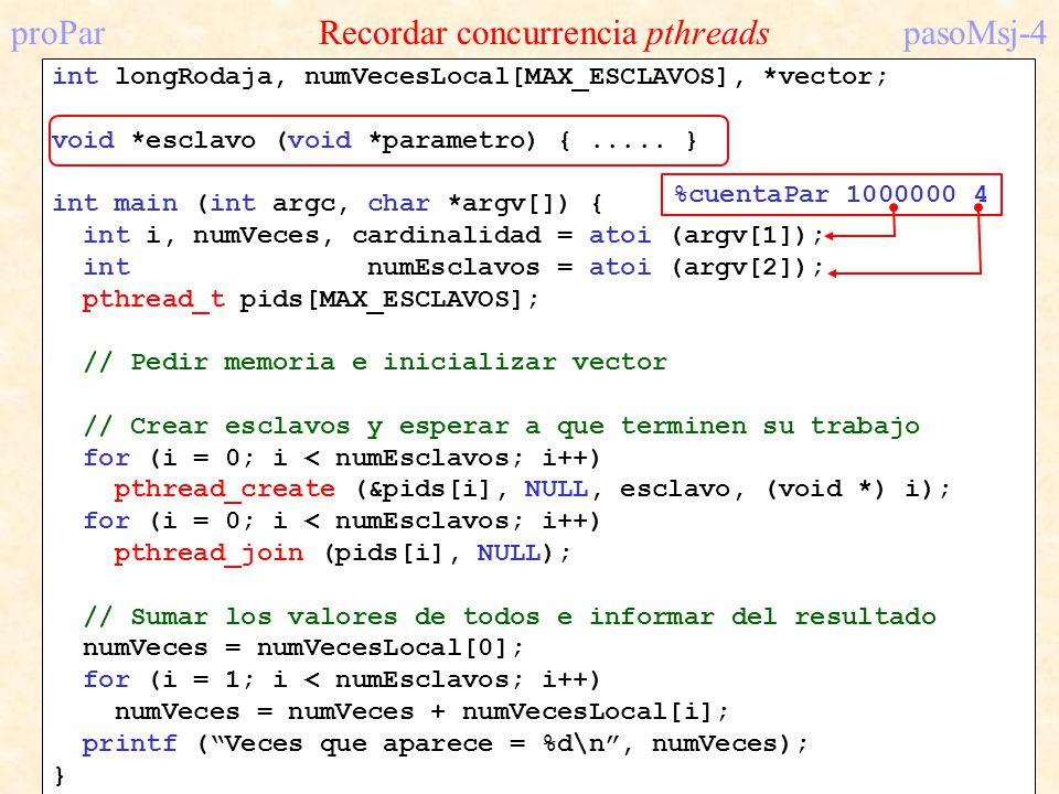 proPar Recordar concurrencia pthreads pasoMsj-4