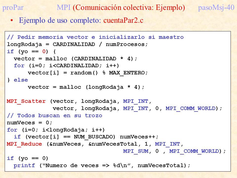 proPar MPI (Comunicación colectiva: Ejemplo) pasoMsj-40