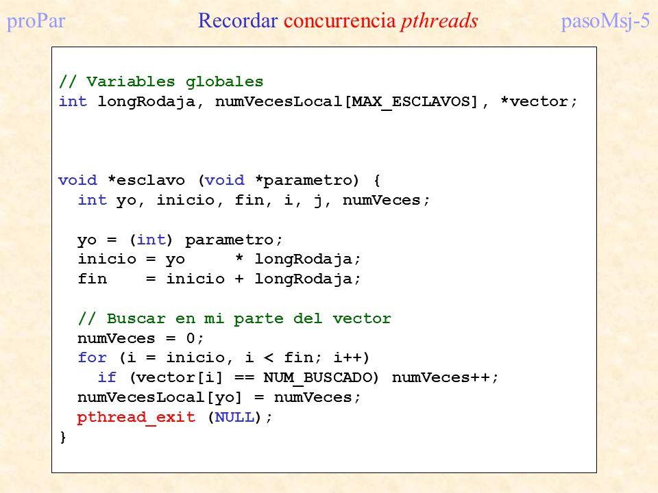 proPar Recordar concurrencia pthreads pasoMsj-5
