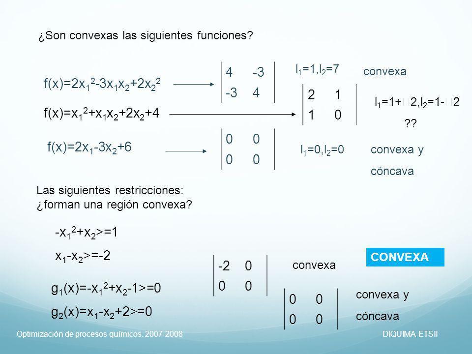 4 -3 f(x)=2x12-3x1x2+2x22 2 1 f(x)=x12+x1x2+2x2+4 f(x)=2x1-3x2+6