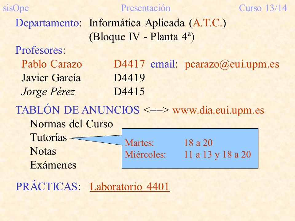 sisOpe Presentación Curso 13/14